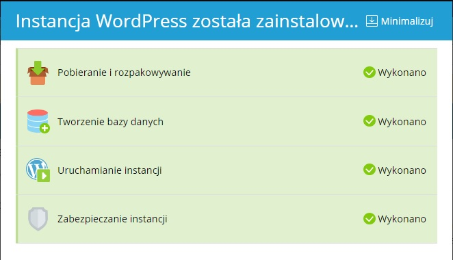 WodPress Hosting instalacja
